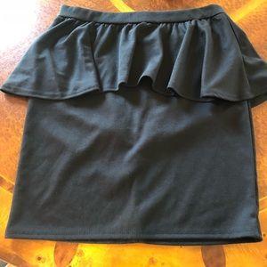 Nasty Gal peplum mini skirt